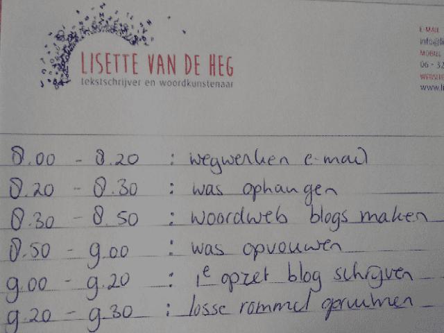Schrijven en timemanagement